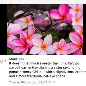 Like new Maui Jim Kuuipo sunglasses like new